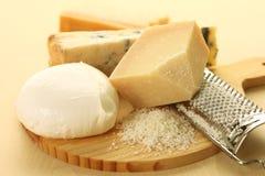 Positionnement de fromage Photos stock