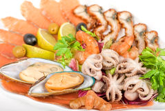 Positionnement de fruits de mer Image stock