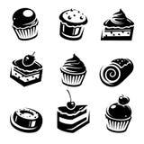 Positionnement de gâteau. Vecteur Photographie stock