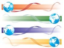 Positionnement de globe Images libres de droits