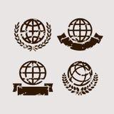 Positionnement de globe Vecteur Photo stock