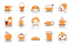 Positionnement de graphisme de déjeuner illustration de vecteur