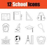 Positionnement de graphisme d'école illustration stock