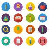 Positionnement de graphisme d'école Icônes d'illustration de vecteur Photos stock