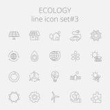 Positionnement de graphisme d'écologie Images stock