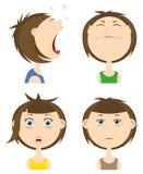 Positionnement de graphisme d'émotions. Photo libre de droits
