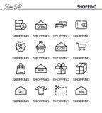 Positionnement de graphisme d'achats Images stock
