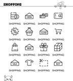 Positionnement de graphisme d'achats Photo stock