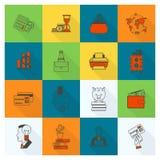 Positionnement de graphisme d'affaires et de finances Images libres de droits