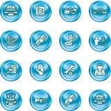 Positionnement de graphisme d'agence de véhicule illustration stock