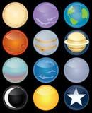 Positionnement de graphisme d'astronomie Image stock
