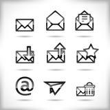 Positionnement de graphisme d'email Images stock