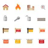 Positionnement de graphisme d'immeubles Photo stock