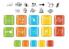Positionnement de graphisme d'immeubles Images libres de droits