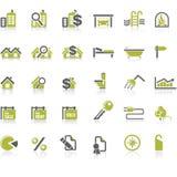 Positionnement de graphisme d'immeubles Photographie stock