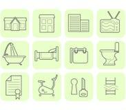 Positionnement de graphisme d'immeubles illustration de vecteur