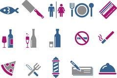 Positionnement de graphisme de bar et de restaurant Photographie stock libre de droits
