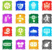 Positionnement de graphisme de basket-ball Images libres de droits