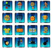 Positionnement de graphisme de basket-ball Photographie stock