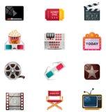 Positionnement de graphisme de cinéma de vecteur Images libres de droits