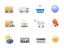 Positionnement de graphisme de consommationisme d'achats illustration libre de droits