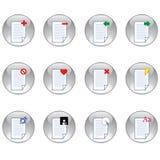 positionnement de graphisme de document illustration libre de droits