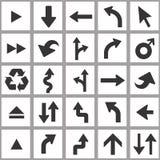 Positionnement de graphisme de flèche Ensemble universel d'icône de vecteur Photo libre de droits