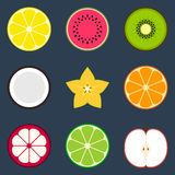 Positionnement de graphisme de fruit Photo libre de droits