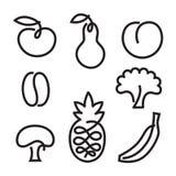 Positionnement de graphisme de fruit Photographie stock libre de droits