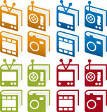 Positionnement de graphisme de livres de medias Image libre de droits