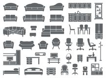 Positionnement de graphisme de meubles Photos stock