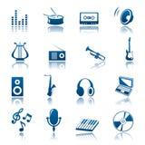 Positionnement de graphisme de musique Image stock