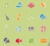 Positionnement de graphisme de musique illustration de vecteur