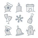 Positionnement de graphisme de Noël illustration stock