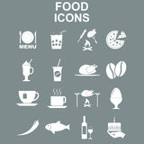 Positionnement de graphisme de nourriture Photos libres de droits