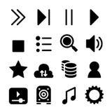 Positionnement de graphisme de reproducteur multimédia Image libre de droits
