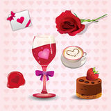 Positionnement de graphisme de Valentine Images libres de droits