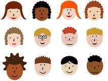 Positionnement de graphisme de visage Images libres de droits