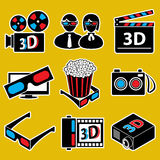 Positionnement de graphisme. dispositifs du film 3d. Photos stock