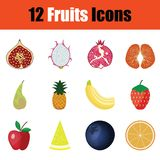 Positionnement de graphisme de fruit illustration libre de droits