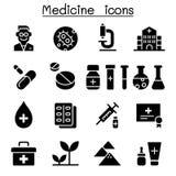Positionnement de graphisme de médecine Photo stock