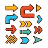 Positionnement de graphisme de signe de flèche Images stock