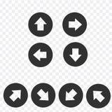 Positionnement de graphisme de signe de flèche Bouton simple d'Internet de forme de cercle avec la flèche Style moderne contempor illustration libre de droits