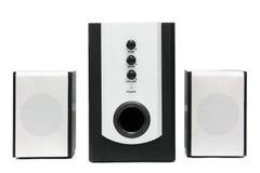 Positionnement de haut-parleur de multimédia d'ordinateur Photos stock