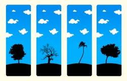 Positionnement de haute résolution de signet d'arbres Photographie stock libre de droits