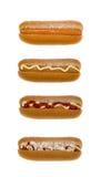 Positionnement de hot-dog Image stock