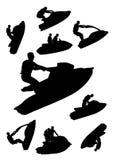 positionnement de jetski illustration libre de droits