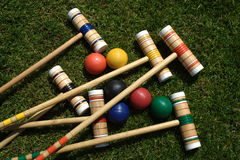 Positionnement de jeu de croquet Photographie stock