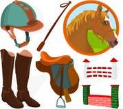 Positionnement de jockey illustration stock