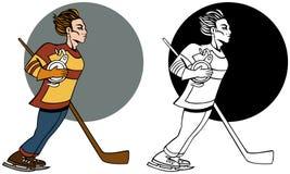 Positionnement de joueur d'hockey Photos stock